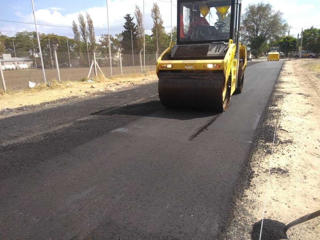 Se inició la pavimentación de la continuación de Brown entre Alem y Villanueva
