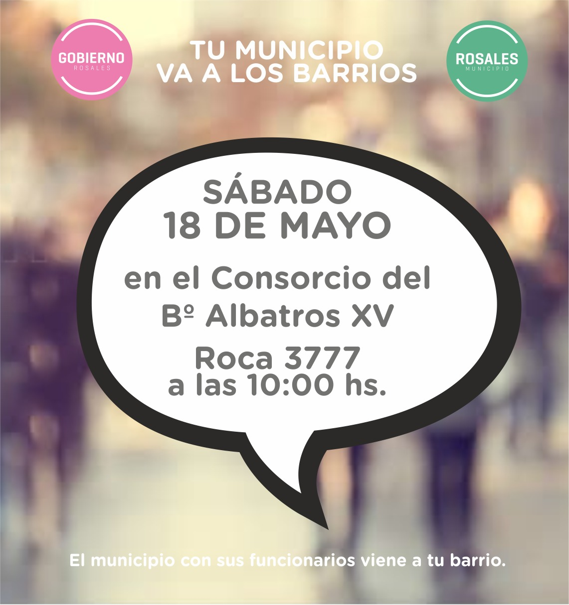 """Este sábado """"El Municipio va a los barrios"""" en Albatros XV"""