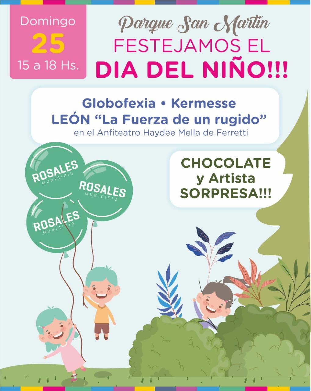 """El Municipio celebrará el """"Día del Niño"""" el domingo 25 en Parque San Martín"""