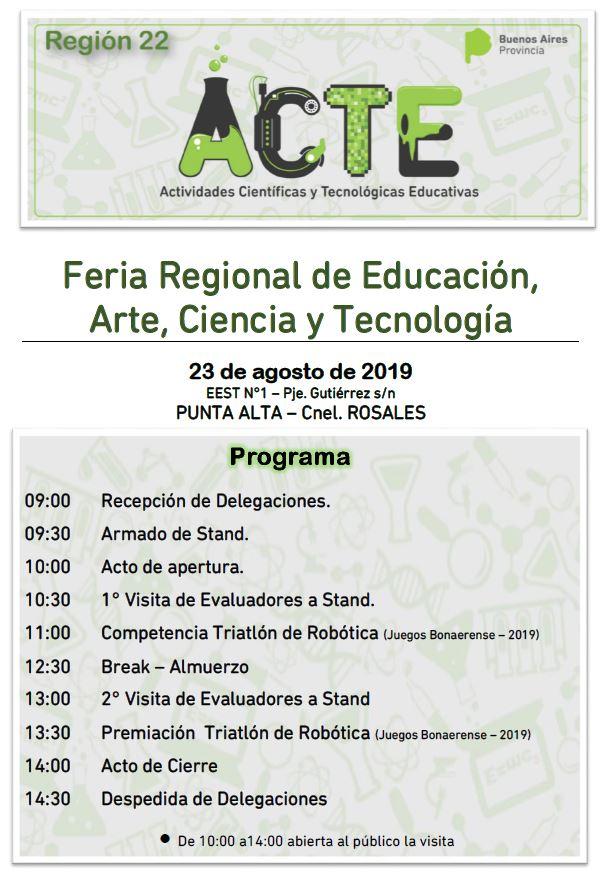 La Feria Regional de Ciencias se realizará en Coronel Rosales