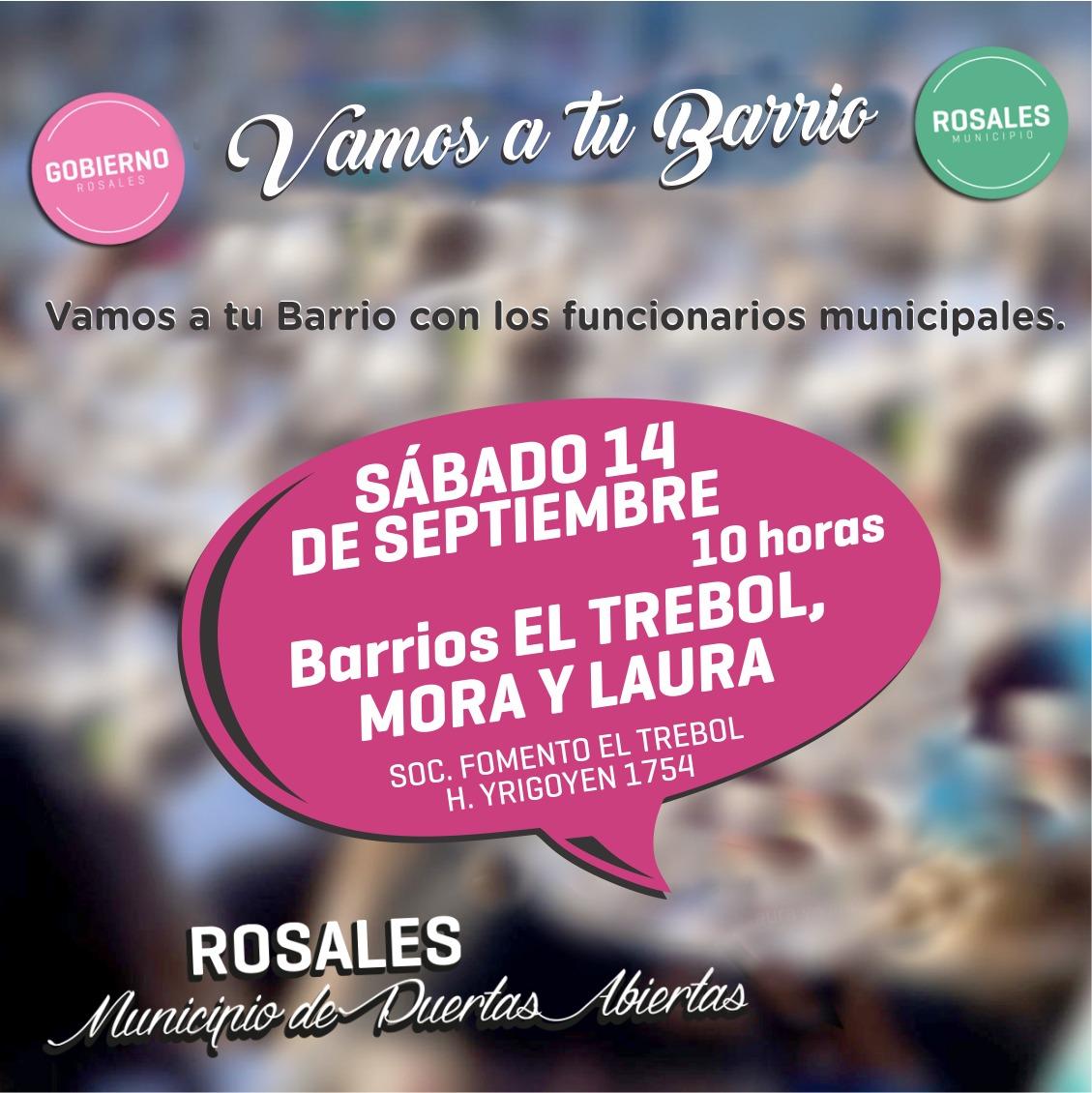 """Este sábado """"El Municipio va a los barrios"""" en El Trébol"""