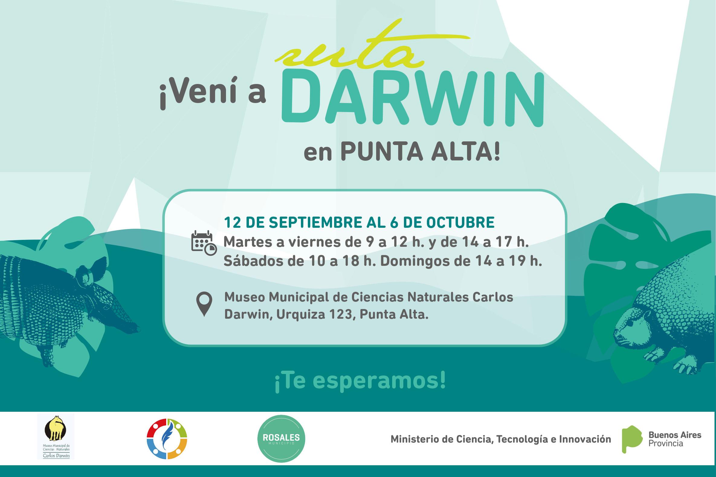 """Este jueves inicia la muestra """"Ruta Darwin"""" en Punta Alta"""