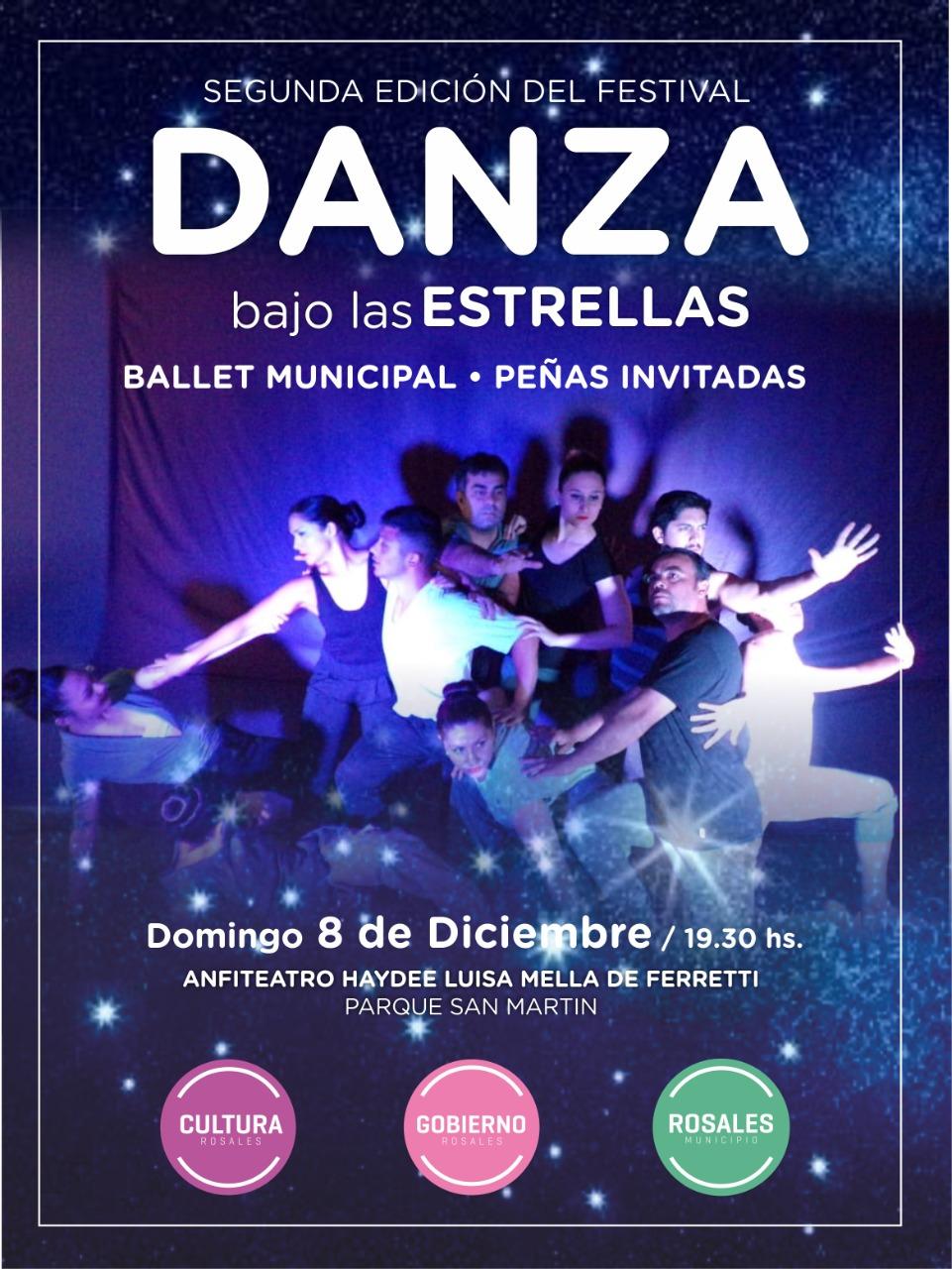 """Este domingo será la segunda edición de """"Danza bajo las estrellas"""" en Parque San Martín"""